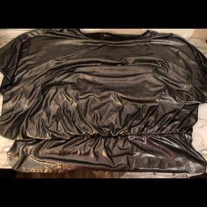 Liquid silver batwing top